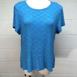☀️ 3/$15 Croft & Barrow Blue Textured Blouse